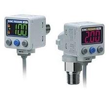 SMC  ZSE80 系列 通用流体用 2色显示式数字式压力开关 真空·混合压用